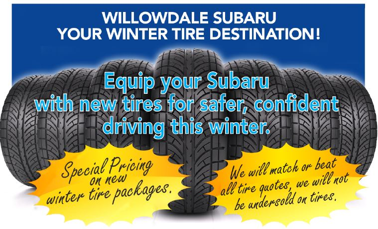 Tire Quotes Glamorous Service Specials  Willowdale Subaru