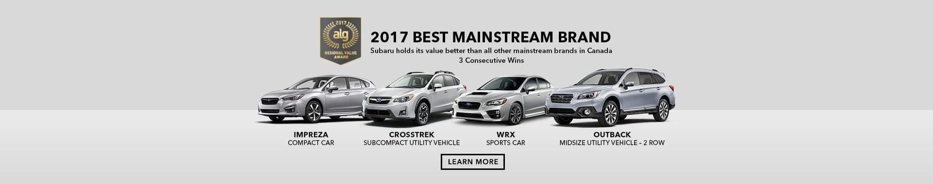 Subarus Are Made to Last. See Our ALG Award Winning Models.
