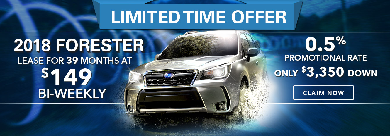 2018 Forester Limited Time Offer from Your Toronto Subaru Dealership