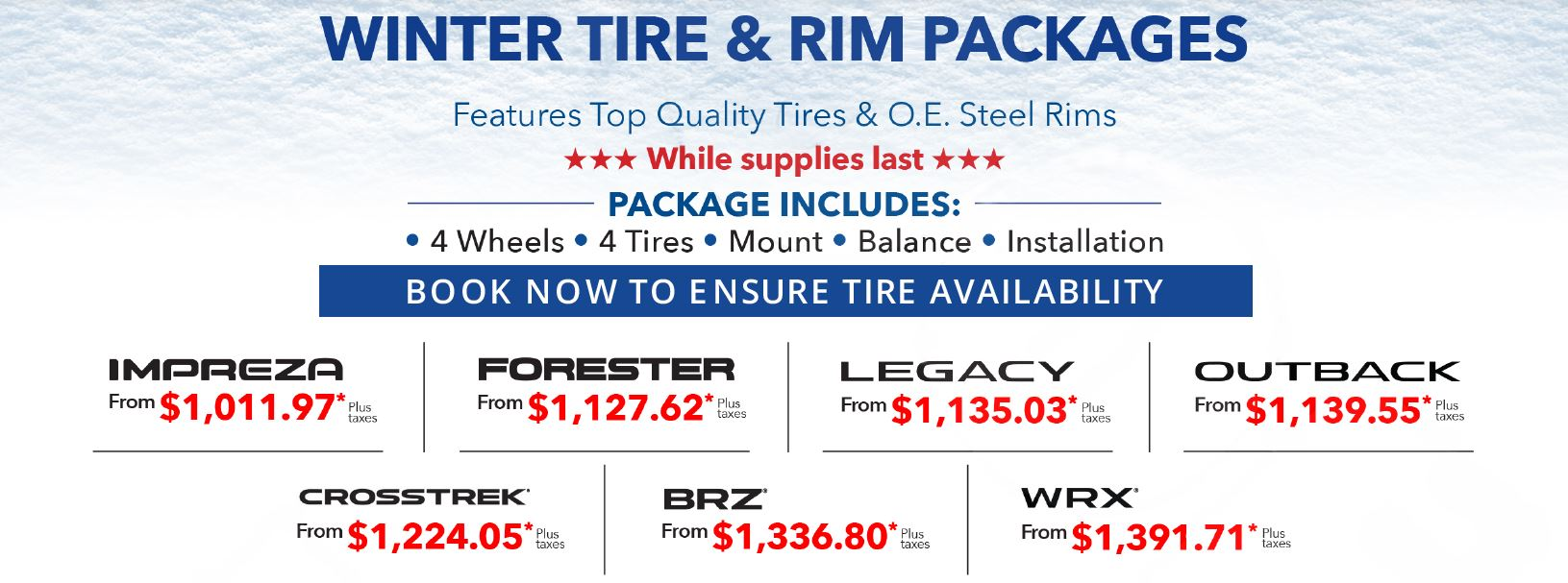 Tire & Rim Package