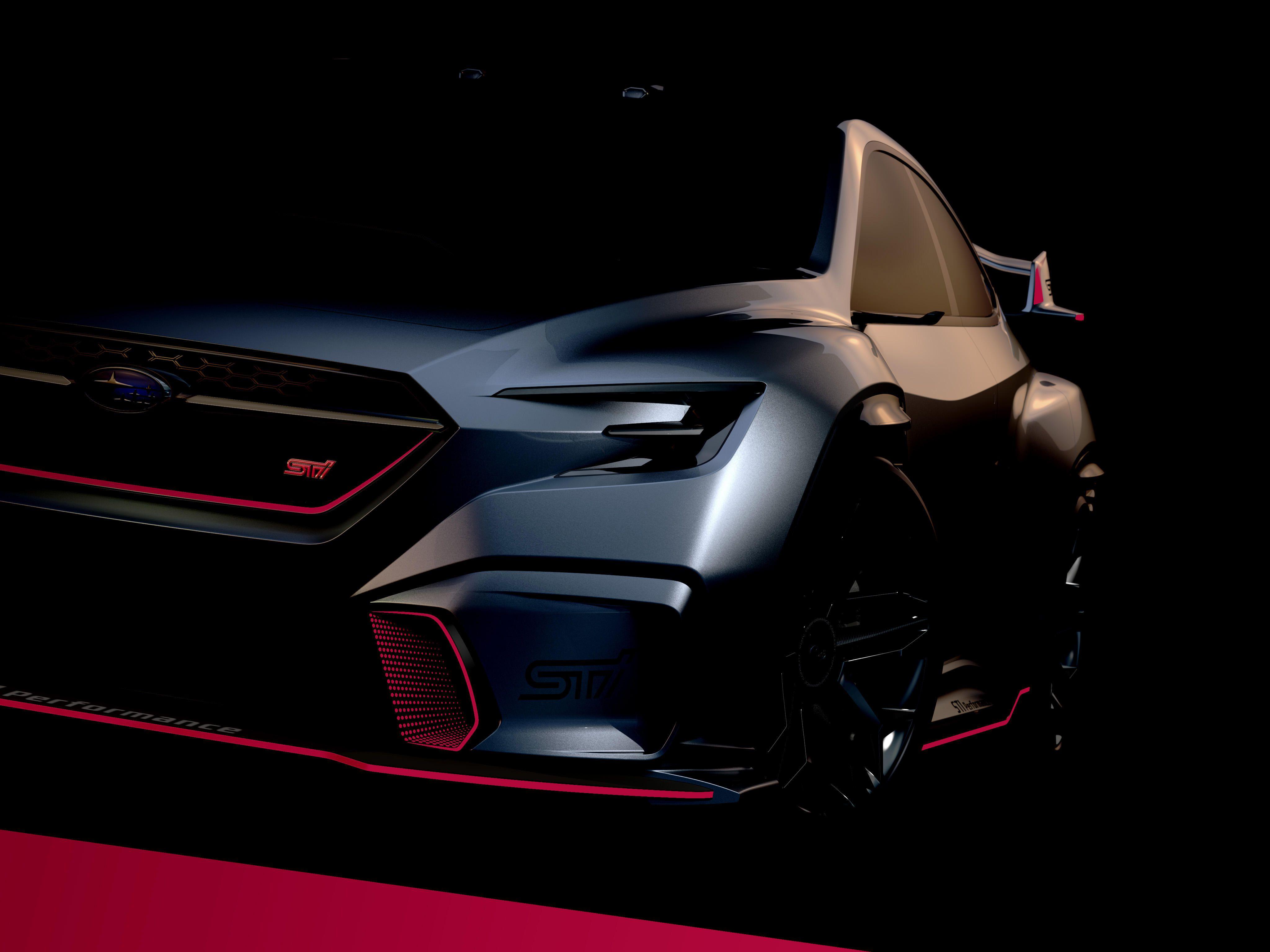 "Subaru VIZIV Performance STI Concept"" and ""STI Performance"" models"
