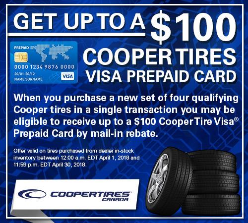 Subaru Tire Rebate for Cooper Tires