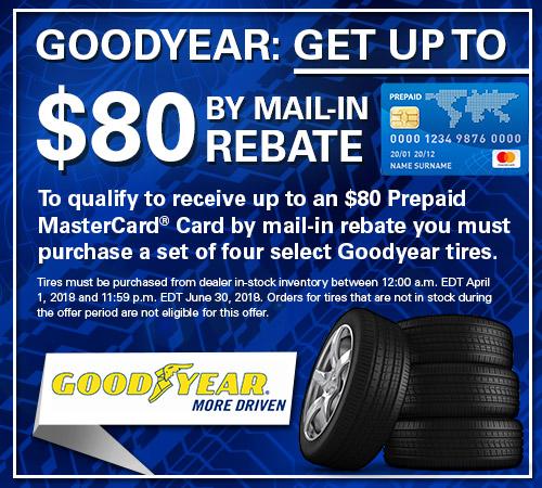 Goodyear Tire Rebates from Your Toronto Subaru Source