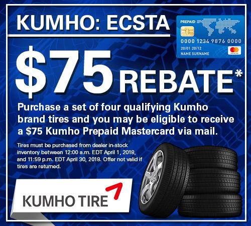 Kumho Tire Rebates from Your Toronto Subaru Source