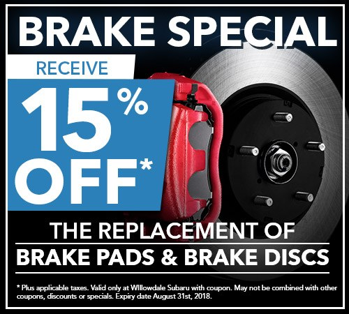 Willowdale Subaru Service and Repairs | Brake Special in Toronto