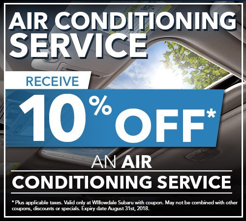 Willowdale Subaru | 10% Off Air Conditioning Services