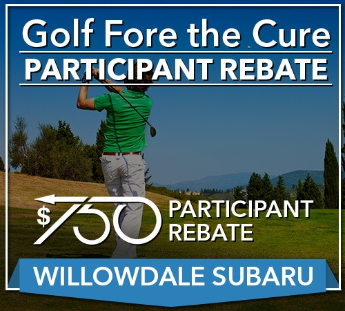 Your Golf Fore The Cure Rebate For Your Next Willowdale Subaru