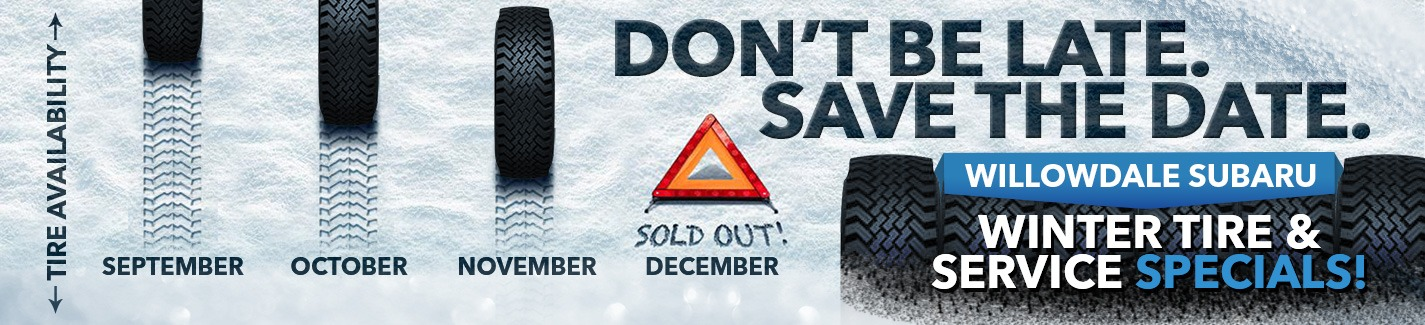 Willowdale Subaru Winter Tire Rebates and Wheel Discounts