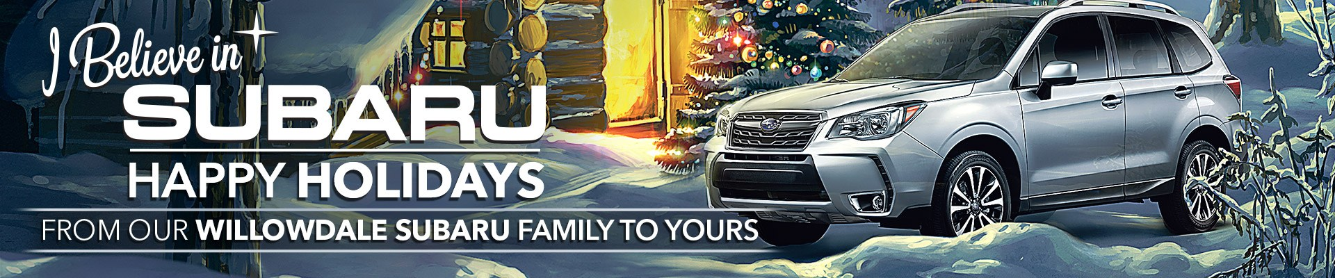Happy Holidays from Willowdale Subaru
