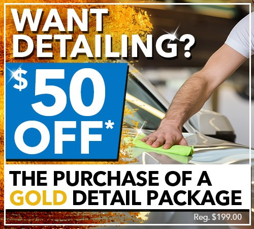 $50 Off The Purchase of a Gold Detailing Package