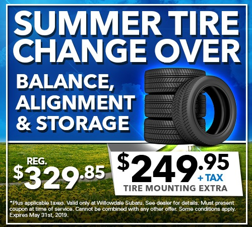 Summer Tire Change Over - Balance, Alignment, and Storage