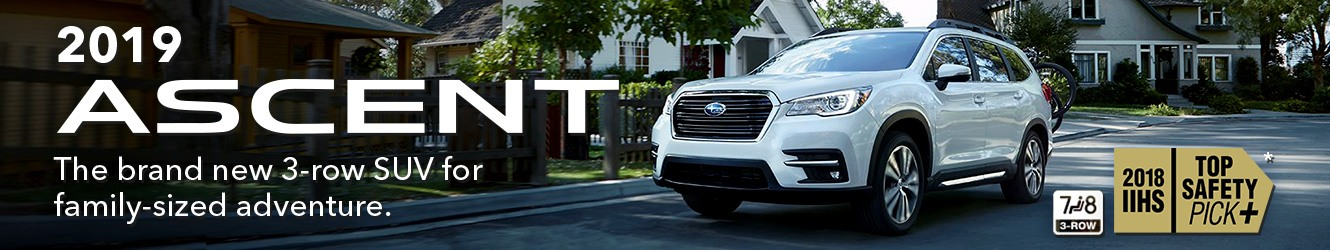 2019 Subaru Ascent. The Compact SUV that simply fits