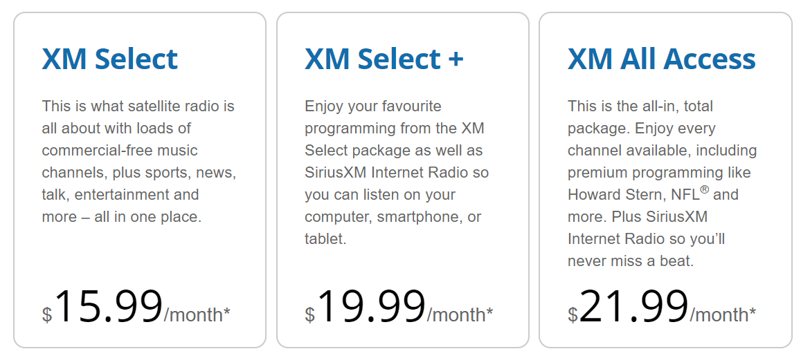 XM Packages