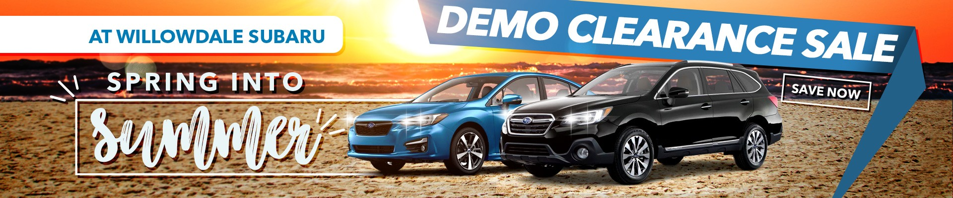 Spring into Summer at Willowdale Subaru with the June Demo Clearance Sale