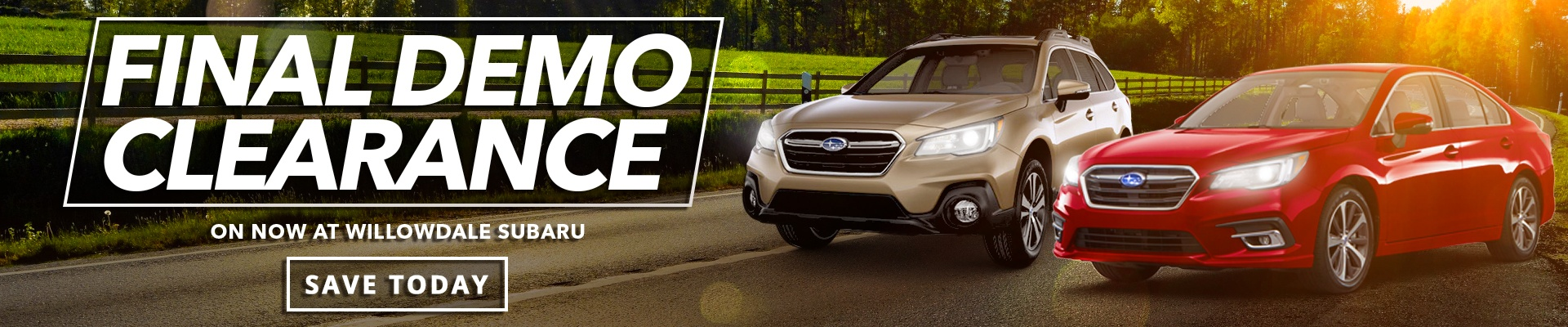 Demo Clearance at Willowdale Subaru