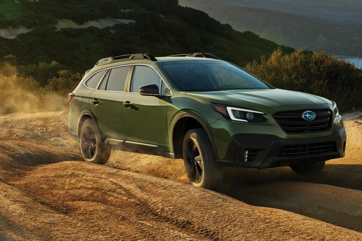 The brand-new Subaru Outback Onyx Edition XT shown in Autumn Green Metallic