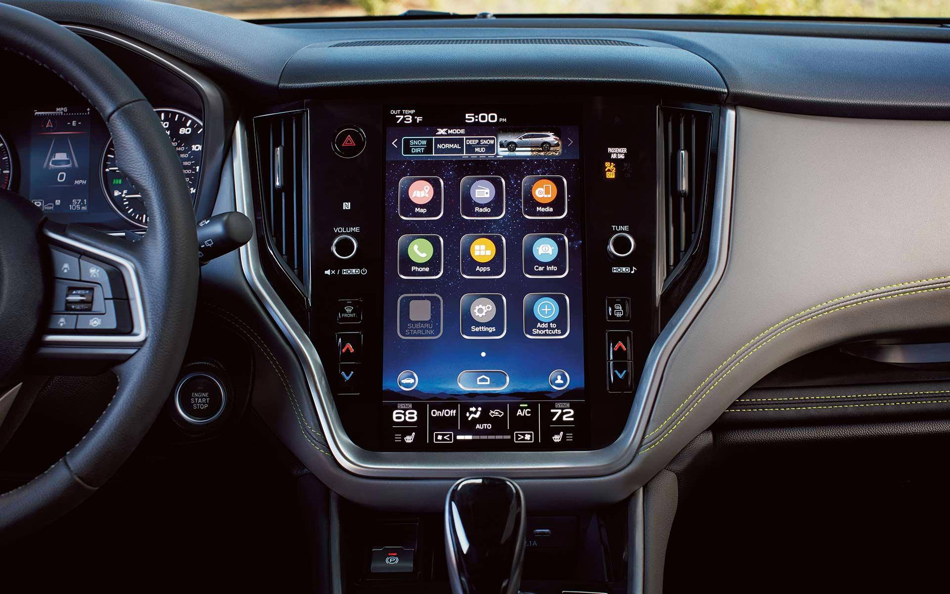 SUBARU STARLINK® Multimedia with 11.6-inch Touchscreen