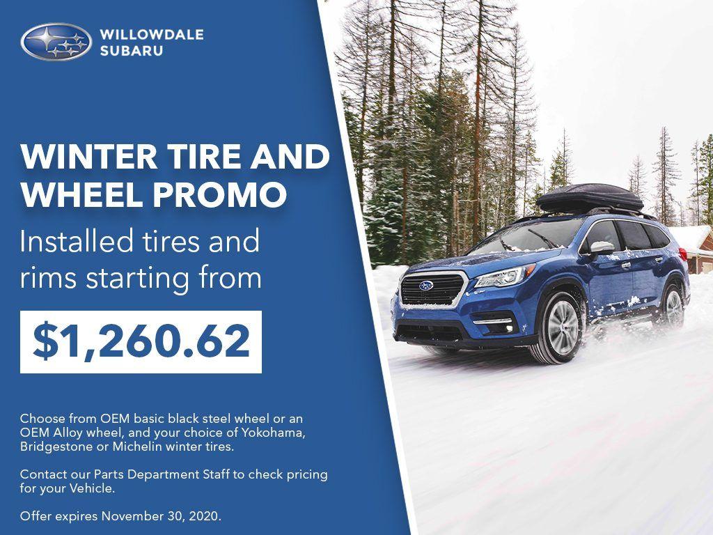 Willowdale Subaru Tire Rebates and Wheel Discounts